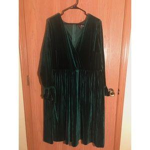 ASOS Green Velvet Midi Party Dress